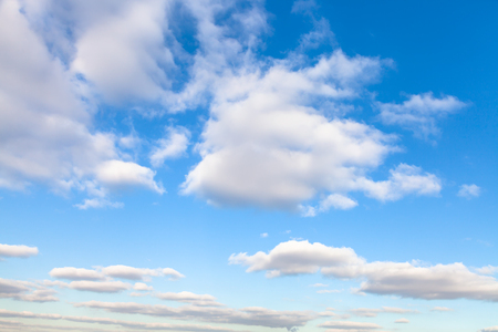 stratus: natural background - white stratus clouds in blue sky in autumn sunny day