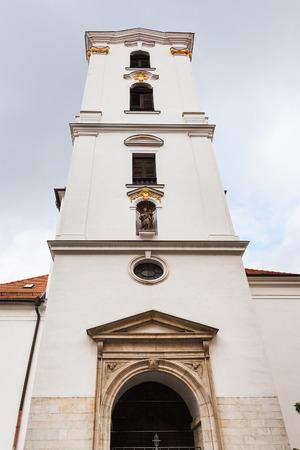 virgen maria: travel to Brno city - tower of Kostel Nanebevzeti Panny Marie (Church of the Assumption of Virgin Mary) on Jezuitska street in Brno town, Chech