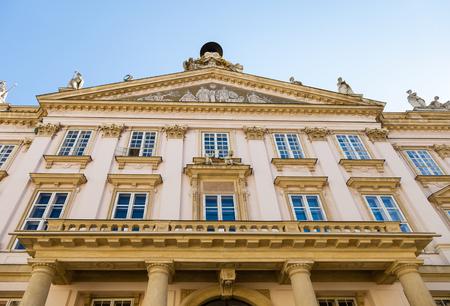 primates: travel to Bratislava city - facade of Primates Palace
