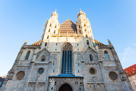 saint stephen cathedral: facade of Stephansdom (St. Stephen cathedral), Vienna Stock Photo