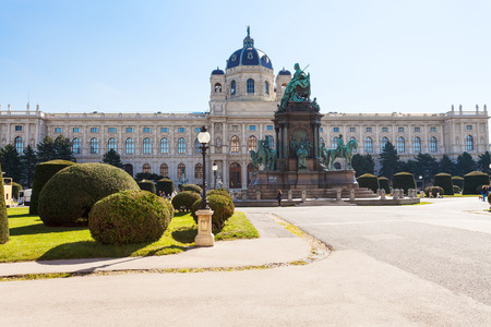 fine arts: travel to Vienna city - Maria Theresien Platz with Maria Theresa Monument and Kunsthistorisches Museum (Museum of Art History, Museum of Fine Arts), Vienna, Austria Editorial