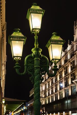 petrovka: Street lantern on Petrovka street in Moscow in night