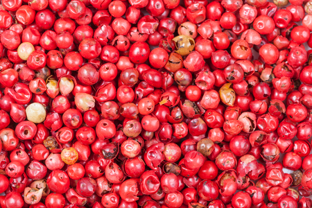 food background - many red pepper peppercorns