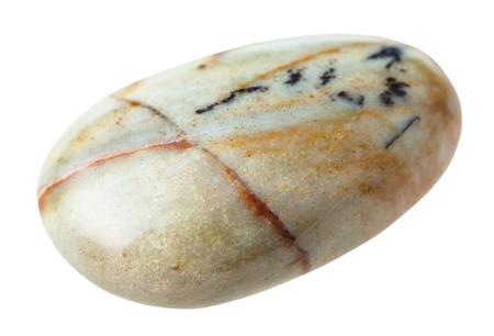 cabochon: natural mineral gem stone - Jasper (China) gemstone isolated on white background close up