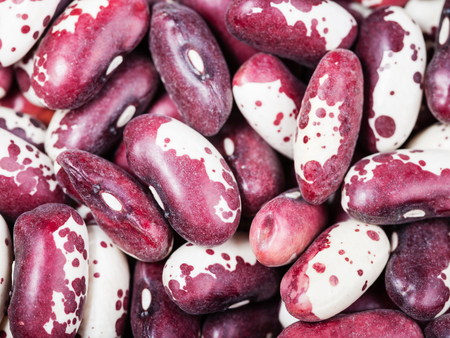 mottled: food background - raw red mottled beans close up