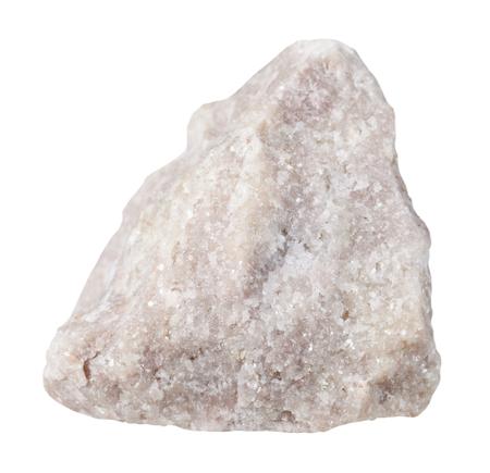 gemmology: macro shooting of specimen natural rock - specimen of Dolomite (dolostone) mineral stone isolated on white background