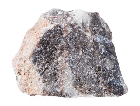 specimen: macro shooting of specimen natural rock - specimen of Limestone mineral stone isolated on white background