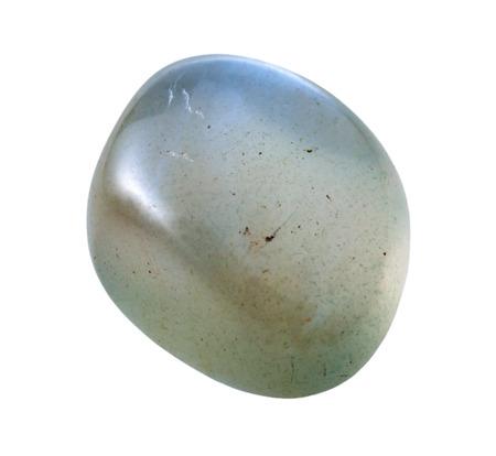 natural mineral gem stone - specimen of Moonstone (adularia, adular) gemstone isolated on white background close up