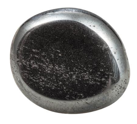 tumbled: tumbled hematite natural mineral gem stone isolated on white background