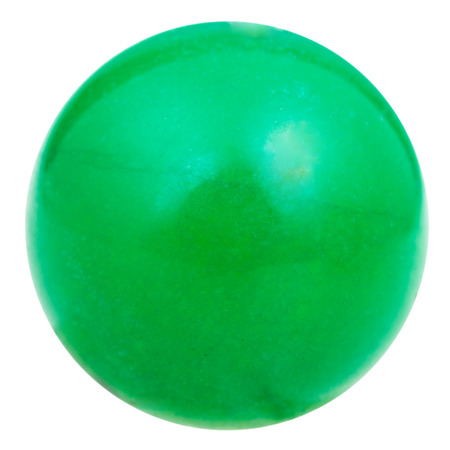cabochon: ball from green natural mineral gem stone aventurine isolated on white background