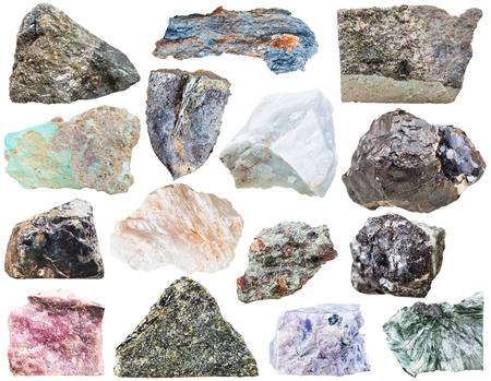 sphalerite: collection of natural mineral rock stones - turquoise, sphalerite, flint, epidote, vivianite, , clinochlore, rhodusite, arsenopyrite, charoite, diopside, eclogite, rhodonite, anhydrite, , belomorite