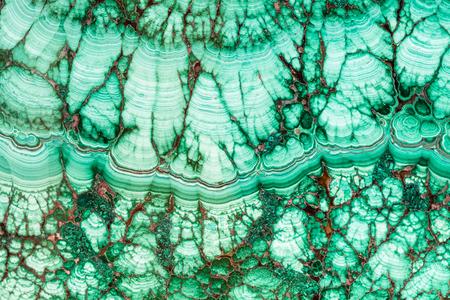 Fond naturel - texture de la gemme minérale de malachite close up