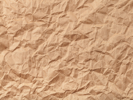 creasy: background from brown colour crumpled paper Stock Photo
