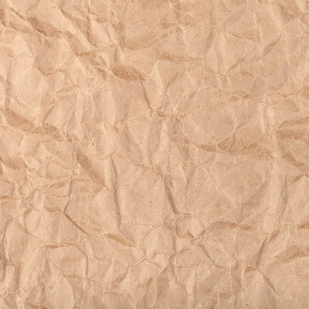 creasy: square background from brown packaging crumpled paper