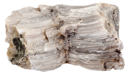 barium: macro shooting of natural mineral stone - specimen of raw Baryte (barite) stone isolated on white background