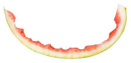 rind: one watermelon rind isolated on white background