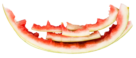 rinds: few watermelon rinds isolated on white background