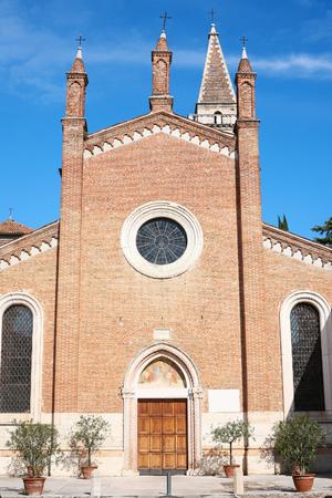 travel to Italy - facade of Church Chiesa dei Santi Nazaro e Celso in Verona Stock Photo