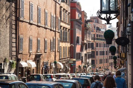 risorgimento: ROME, ITALY - NOVEMBER 1, 2016: people on Via Francesco Crispi in Rome. Francesco Crispi (4.10.1818 - 12.08.1901) was Italian patriot and statesman, he was among the main protagonists of Risorgimento Editorial