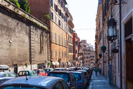 risorgimento: ROME, ITALY - NOVEMBER 1, 2016: street Via Francesco Crispi in Rome. Francesco Crispi (4.10.1818 - 12.08.1901) was Italian patriot and statesman, he was among the main protagonists of Risorgimento