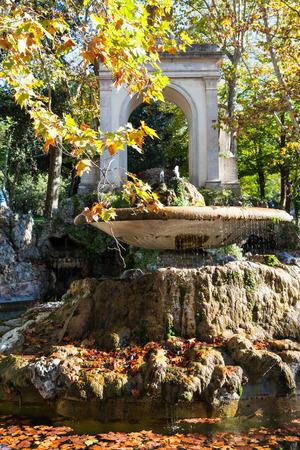 travel to Italy - fountain in Villa Borghese public gardens in Rome city in autumn