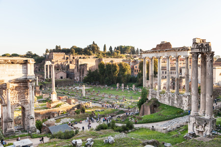 severus: travel to Italy - Forum of Caesar on Roman Forums in Rome city