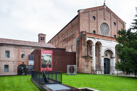 cappella: PADUA, ITALY - NOVEMBER 1, 2012: facade of Musei civici degli Eremitani (Civic Museum of the Hermits). Since 1985 museum is housed in cloisters of convent of Friars Hermits in Padua city.