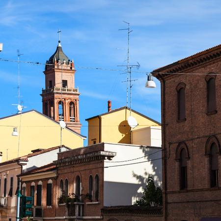 travel to Italy - urban houses in Ferrara city
