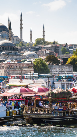 ISTANBUL, TURKEY - SEPTEMBER 10, 2010: people celebtare End of Ramadan in Istanbul city. After Ramadan is over, Muslims celebrate Eid ul-Fitr, when Muslims break their fasting and revel exuberantly Editorial