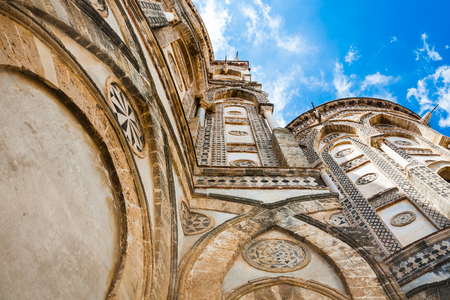 Italy - decorated walls of Norman cathedral Duomo di Monreale in Sicily Stock Photo