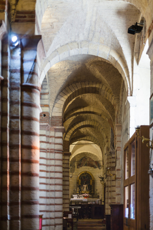 12th century: VERONA, ITALY - MARCH 29, 2017 - apse of Chiesa di San Lorenzo in Verona city. Church at this site was present since the 4th century, present church was rebuilt in the 12th century
