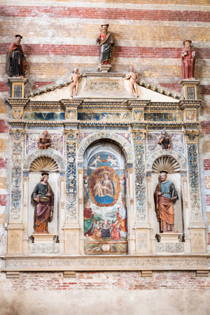 hermits: PADUA, ITALY - APRIL 1, 2017: indoor of Church of the Eremitani (Chiesa degli Eremitani, Church of the Hermits) in Padua. It was built in 1276 and dedicated to the saints Philip and James