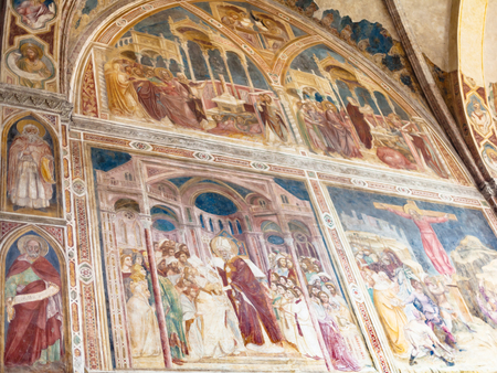 hermits: PADUA, ITALY - APRIL 1, 2017: paintings in Church of the Eremitani (Chiesa degli Eremitani, Church of the Hermits) in Padua. It was built in 1276 and dedicated to the saints Philip and James