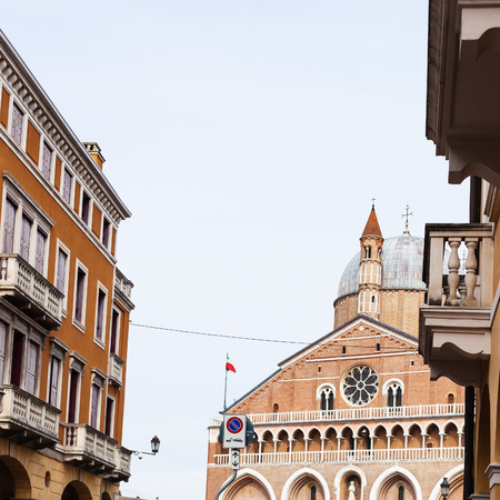 travel to Italy - view of Basilica of Saint Anthony of Padua on piazza del Santo in Padua city from street