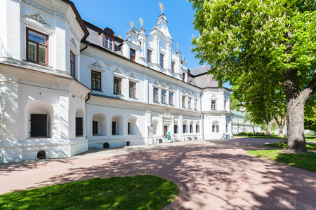 sobor: KIEV, UKRAINE - MAY 5, 2017: House of the Metropolitan in yard of Saint Sophia Cathedral in Kiev. The cathedral is the first heritage site in Ukraine to be inscribed on the World Heritage List