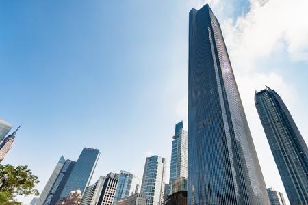 guangzhou china april 1 2017 modern buildings in zhujiang