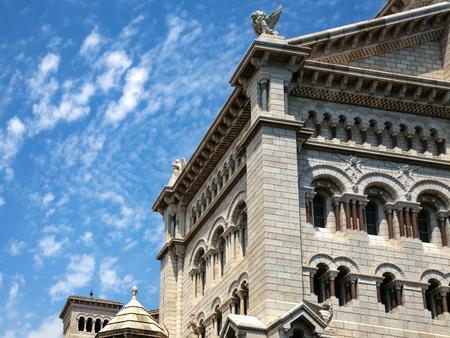building of Saint Nicholas Cathedral (Monaco Cathedral) in Monaco city
