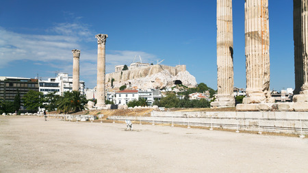 travel to Greece - ruins of Temple of Olympian Zeus (Olympieion, Columns of the Olympian Zeus) in Athens city