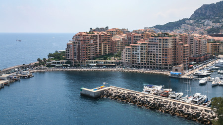 above view of modern residential district in Monaco city