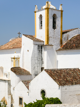 Travel to Algarve Portugal - Church of Santiago (Igreja matriz de Santiago) in Tavira city 版權商用圖片