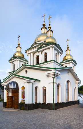 travel to Crimea - view of Church Holy Archangel Michael in Oreanda district