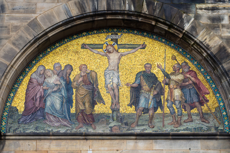 Outdoor Wall Decoration Of Bremen Cathedral ( Bremer Dom, St.. Stock ...