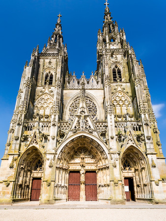 Travel to France - Basilique Notre-Dame de lEpine (Basilica of Our Lady of the Thorn) in commune of LEpine, Marne, Champagne region Stock Photo