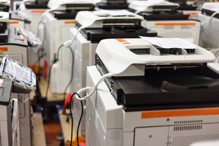 several new assembled copiers on stock in factory