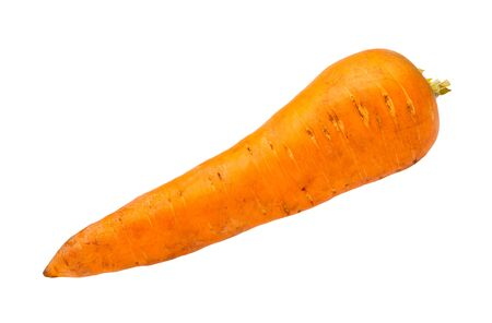 clean fresh garden carrot isolated on white background