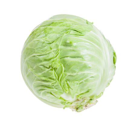 fresh white cabbage isolated on white background