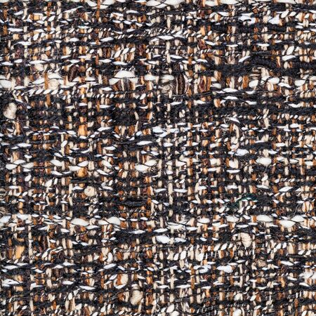 textile square background - weaving of threads in motley boucle fabric close up Banque d'images