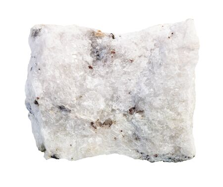 closeup of sample of natural mineral from geological collection - unpolished Carbonatite rock isolated on white background Stock Photo