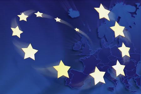 Symbolic illustration of European Union illustration