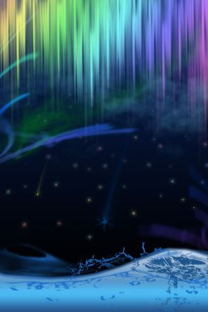 polar light: Abstract background (polar light)